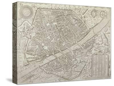 Map of Florence, 1595