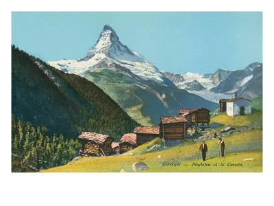 Matterhorn, Findelin Glacier, Swiss Alps--Art Print
