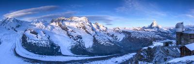 Matterhorn, Monte Rosa Range and Gornergletscher, Zermatt, Valais, Switzerland-Jon Arnold-Photographic Print