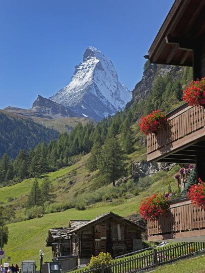 Matterhorn, Zermatt, Canton Valais, Swiss Alps, Switzerland, Europe-Angelo Cavalli-Photographic Print
