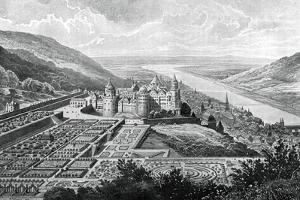 Heidelberg Castle, Germany, in 1620 by Matthaus Merian