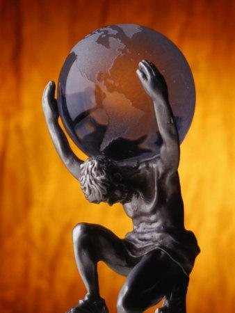 Atlas Statue Holding Up the World