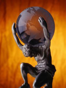 Atlas Statue Holding Up the World by Matthew Borkoski