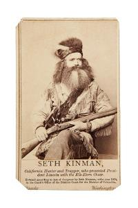 Seth Kinman, California Hunter And Trapper, Who Presented President Lincoln With Elk-Horn Chair by Matthew Brady
