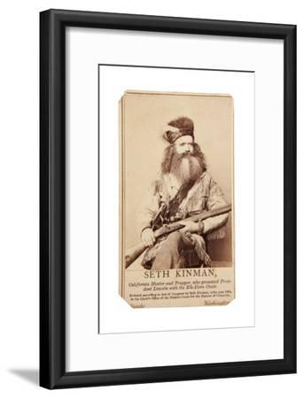 Seth Kinman, California Hunter And Trapper, Who Presented President Lincoln With Elk-Horn Chair