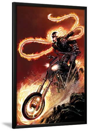 Ghost Rider No.1: Ghost Rider Flaming and Riding a Motorcycle