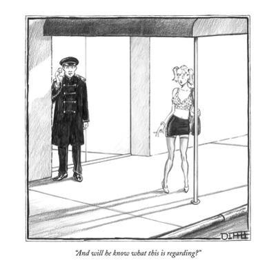 """""""And will he know what this is regarding?"""" - New Yorker Cartoon by Matthew Diffee"""
