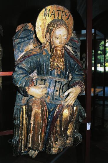 Matthew Evangelist, Polychrome Wood Statue, Tarragona Cathedral--Giclee Print