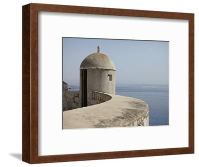 A Lookout Post Fortification with a View of the Adriatic Sea, on the City Wall, Dubrovnik, Croatia