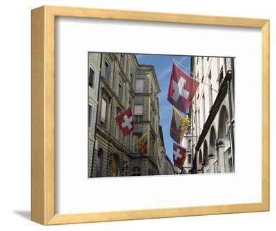 Street Scenes in Geneva Old Town, Geneva, Switzerland, Europe