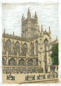Bath Abbey, 2003 by Matthew Grayson
