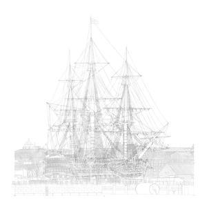 Study of Hms Victory in Number Two Dry Dock, Portsmouth, 2012 by Matthew Grayson