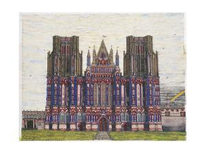 Wells Cathedral, main panel from 'Magnum Opus', 2003 by Matthew Grayson
