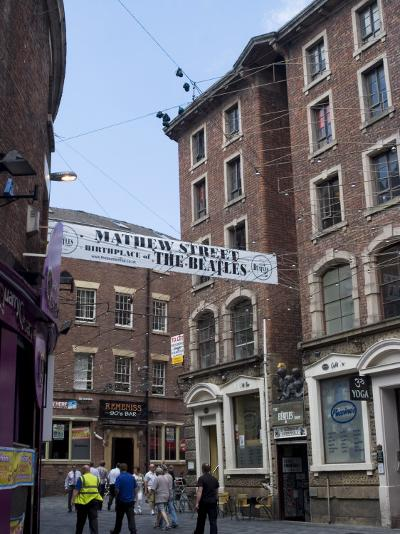 Matthew Street, Site of the Original Cavern Club Where the Beatles First Played-Ethel Davies-Photographic Print