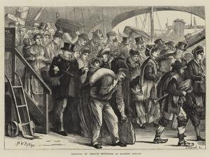 Landing of French Refugees at London Bridge by Matthew White Ridley