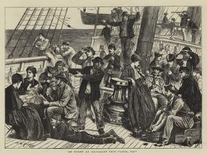 On Board an Emigrant Ship, Land, Ho! by Matthew White Ridley