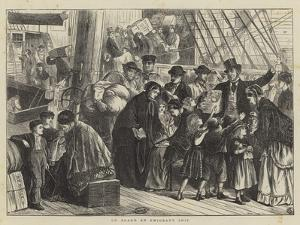 On Board an Emigrant Ship by Matthew White Ridley