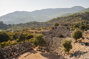 Amphitheatre at the ancient ruins of Kaunos, Dalyan, Anatolia, Turkey Minor, Eurasia by Matthew Williams-Ellis