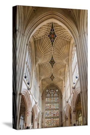 Bath Abbey Interior, Bath, Avon and Somerset, England, United Kingdom, Europe