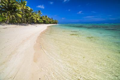 Beach at Titikaveka, Rarotonga, Cook Islands, South Pacific Ocean, Pacific by Matthew Williams-Ellis