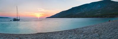 Brac Island, Zlatni Rat Beach at Sunset, Bol, Dalmatian Coast, Adriatic, Croatia, Europe by Matthew Williams-Ellis