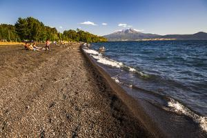 Calbuco Volcano, Seen from a Beach on Llanquihue Lake, Chilean Lake District, Chile, South America by Matthew Williams-Ellis