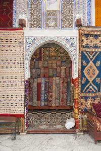 Carpet Shop in Marrakech Souks, Morocco, North Africa, Africa by Matthew Williams-Ellis