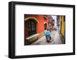 Chollita on Calle Jaen, a Colourful Colonial Cobbled Street in La Paz, La Paz Department, Bolivia by Matthew Williams-Ellis