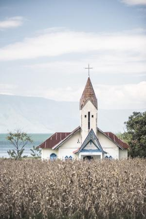 Church at Lake Toba (Danau Toba), North Sumatra, Indonesia, Southeast Asia, Asia by Matthew Williams-Ellis