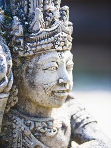 Close-Up of Stone Statue, Pura Tirta Empul Hindu Temple, Bali, Indonesia, Southeast Asia, Asia by Matthew Williams-Ellis
