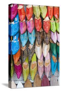 Colourful Babouche for Sale in Thesouks in the Old Medina by Matthew Williams-Ellis