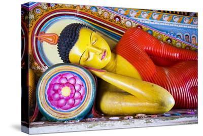 Colourful Buddha Statue at Isurumuniya Vihara