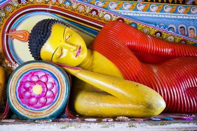 Colourful Buddha Statue at Isurumuniya Vihara
