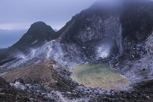 Crater at the Top of Sibayak Volcano, North Sumatra, Indonesia by Matthew Williams-Ellis