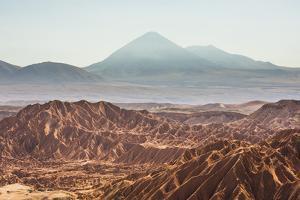 Death Valley (Valle De La Muerte) and Licancabur Volcano, Atacama Desert, Chile by Matthew Williams-Ellis