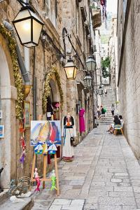 Dubrovnik Old Town, One of the Narrow Side Streets, Dubrovnik, Croatia, Europe by Matthew Williams-Ellis