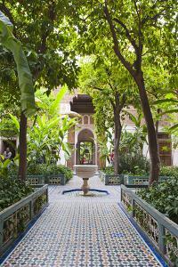 El Bahia Palace Courtyard, Marrakech, Morocco, North Africa, Africa by Matthew Williams-Ellis