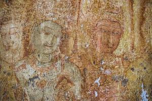 Frescoes at the Tivanka Image House, Polonnaruwa, UNESCO World Heritage Site, Sri Lanka, Asia by Matthew Williams-Ellis