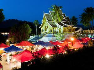 Haw Pha Bang Temple at Night, Luang Prabang, Laos, Indochina, Southeast Asia, Asia by Matthew Williams-Ellis