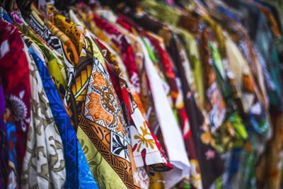 Hawaiian Shirts for Sale at Rarotonga Saturday Market (Punanga Nui Market), Cook Islands, Pacific by Matthew Williams-Ellis