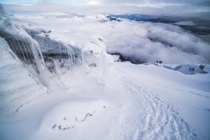 Ice Formations and Icicles on Cotopaxi Volcano, Cotopaxi National Park, Cotopaxi Province, Ecuador by Matthew Williams-Ellis