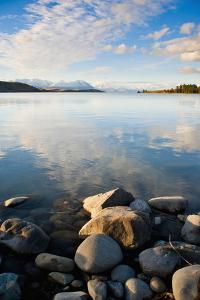 Lake Tekapo at Sunset, Southern Lakes, Canterbury Region, South Island, New Zealand, Pacific by Matthew Williams-Ellis