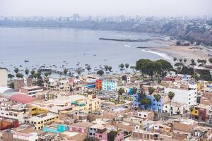 Lima Seen from Cerro San Cristobal, Lima Province, Peru, South America by Matthew Williams-Ellis