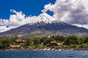Osorno Volcano Seen from Todos Los Santos Lake, Chilean Lake District, Chile by Matthew Williams-Ellis