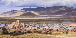 Pucara Seen from Pukara Inca Ruins, Puno Region, Peru, South America by Matthew Williams-Ellis