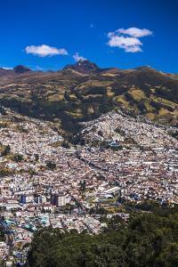 Quito, with Pichincha Volcano in the Background, Ecuador, South America by Matthew Williams-Ellis