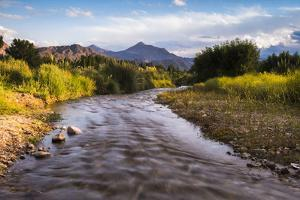 River Mendoza (Rio Mendoza) and the Andes Mountains at Uspallata, Mendoza Province, Argentina by Matthew Williams-Ellis