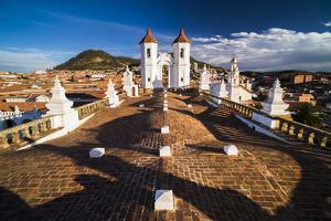 Rooftop of Church of San Felipe Neri (Oratorio De San Felipe De Neri), Sucre, Bolivia by Matthew Williams-Ellis