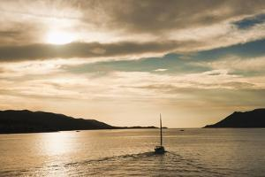 Sailing Boat at Sunset on the Dalmatian Coast, Adriatic, Croatia, Europe by Matthew Williams-Ellis