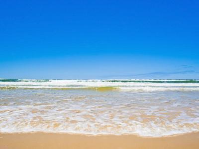 Sand Sea and Sky of Seventy Five Mile Beach, Fraser Island, UNESCO World Heritage Site, Australia